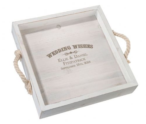 Personalised Wood Wedding Tray
